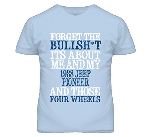 About 1988 T-shirt (Forget The BS Its All About 1988 Pioneer Distressed Look T Shirt S Light Blue)
