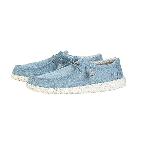 Dude Shoes Men's Wally Linen Sky UK10 / EU44