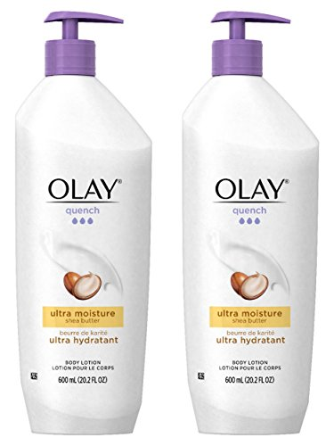 Olay Quench Body Lotion Ultra Moisture with Shea Butter and Vitamins E and B3,20.2 oz(Pack of 2) Body Lotion Vitamin