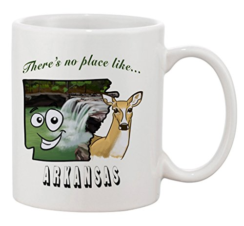 Ceramic Coffee Mug - There's No Place Like Arkansas