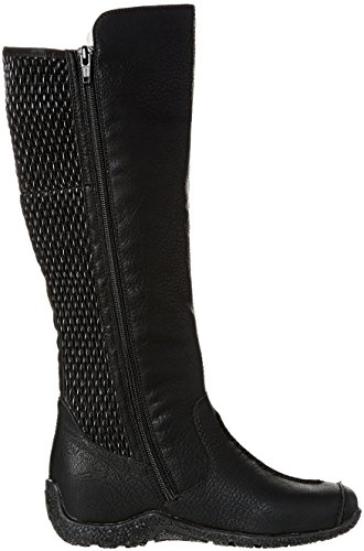 Rieker 79995 Women's Casual Tall Boots in Black, 00 Schwarz/Variosch (Black), 36 EU