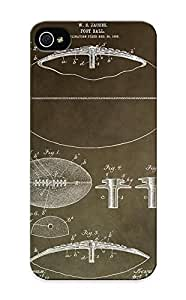 Fireingrass Perfect Tpu Case For Iphone 5/5s/ Anti-scratch Protector Case (Vintage Football Patent)