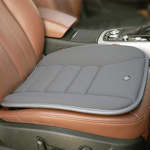 RaoRanDang Car Seat Cushion Pad for Car Driver Seat Office Chair Home Use Memory Foam Seat Cushion, Grey (Seat Make Cushion A)