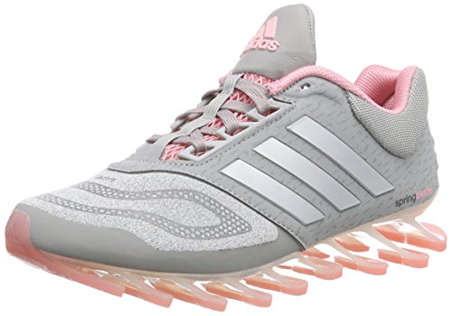 adidas Springblade Drive 2.0 Damen Laufschuhe Grau (Medium Grey Heather/Silver Met./Super Pop F15)