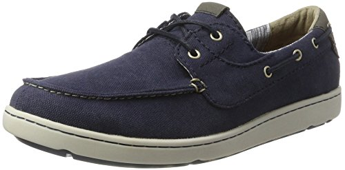 Rockport Gryffen 2-Eye Boat Shoe - Scarpe da Barca, Uomo Blu (Navy Canvas)
