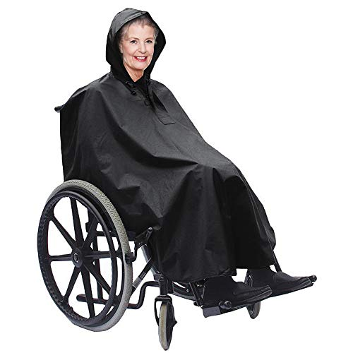 Bramble Standard Wheelchair Poncho - Waterproof - Windproof - Ideal Protection Against Rain & Wind - Fits All Regular Wheelchairs-Reusable-Covers Arms, Hands, and Knees