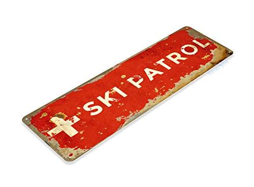 (Tinworld TIN Sign C151 Ski Patrol Rustic Snow Ski Slope Metal Sign Skiing Cabin Resort Lodge 6