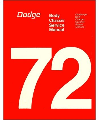 amazon com 1972 dodge factory repair shop service manual body rh amazon com Dodge Truck Service Manual 2006 Dodge Grand Caravan Service Manual
