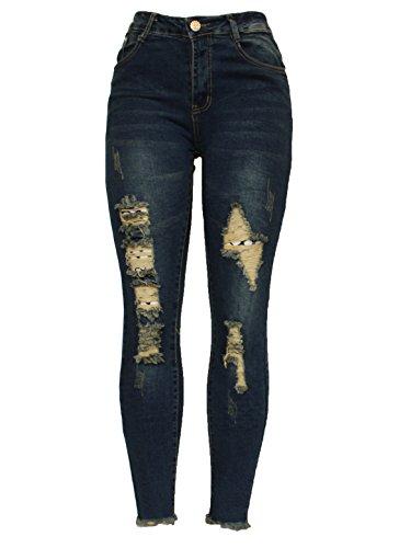 Barfly Fashion - Jeans - Skinny - Femme 1558 Blue