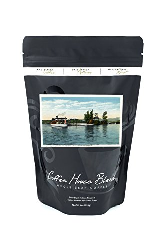 - Lake Winnipesaukee, New Hampshire - Uncle Sam Steamer at the Loon Island Landing (8oz Whole Bean Small Batch Artisan Coffee - Bold & Strong Medium Dark Roast w/Artwork)