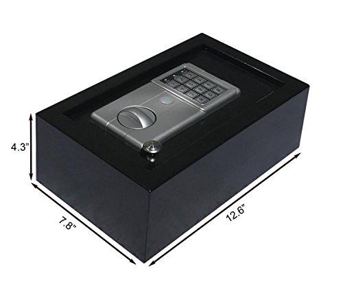 (Digital Electronic Drawer Safe Hidden Security Box Jewelry Gun Cash Portable)