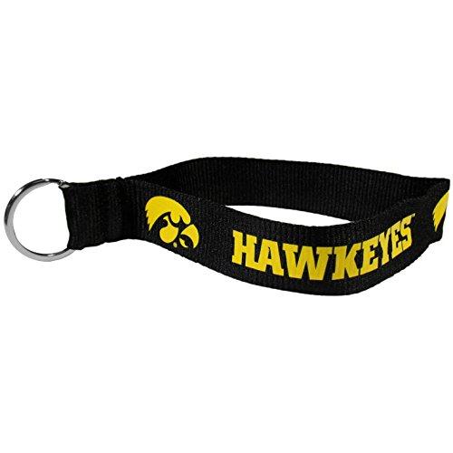 NCAA Iowa Hawkeyes Lanyard Key Chain, Black, Wristlet - Ring Ncaa Iowa Key Hawkeyes
