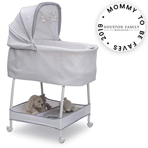 Simmons Kids Silent Auto Gliding Elite Bassinet, Basketweave (Simmons Kid Bassinet)