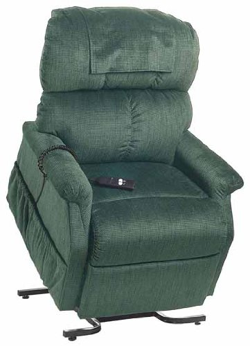 - Electric Power Recline 3 Position Riser Lift Chaise Easy Motion Recliner Chair - PR-501L Comforter Large 375lb Capacity by Golden Technologies Evergreen Fabric