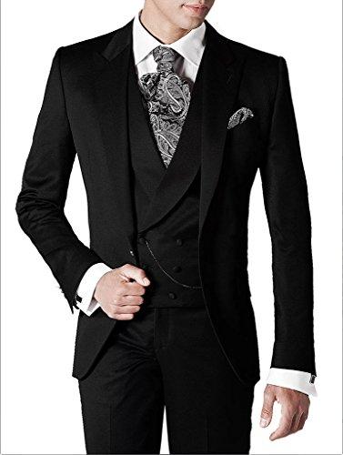Suit Me Slim Fit coup¨¦ Hommes Formellement 3 pi¨¨ces pour les mariages partie prom veste de costume, gilet, pantalon de costume