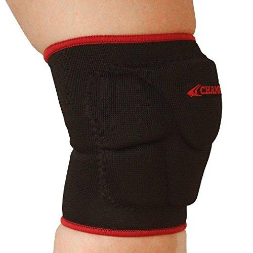 Champro Sports Pro-Plus Low Profile Knee Pad, Black/Scarlet, Medium (Champro Volleyball Knee Pads)