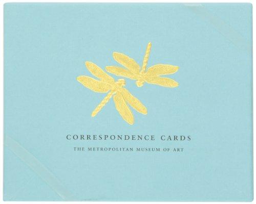 Boston International Metropolitan Museum Of Art Boxed Correspondence Cards Tiffany Dragonflies