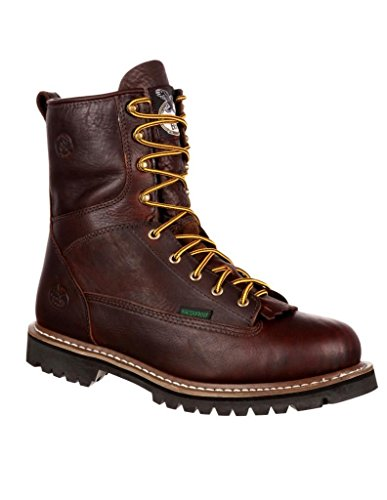 Lace Toe Boot GB00191 Georgia Men's Insulated to Work Chocolate Waterproof wx4IAqO
