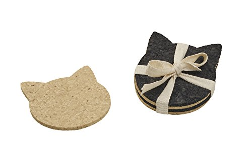 (ORE Originals Living Goods Coaster Recycled Rubber Cat Head, 4 Count)