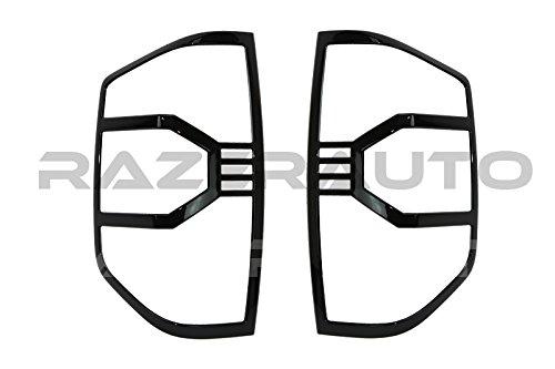 Razer Auto Gloss Black Taillight Trim Bezel Cover for 2014-2016 Toyota Tundra CrewMax Double Cab