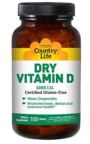 COUNTRY LIFE Dry Vitamin D 1000 IU, 100 CT