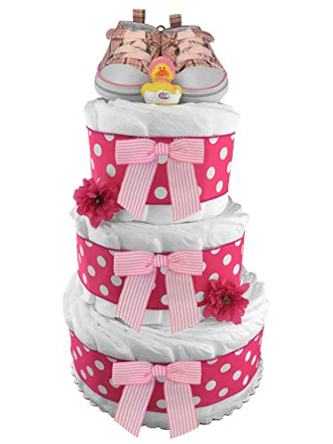Pink Tennis Shoes Diaper Cake...