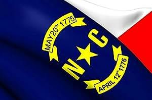 North Carolina State bandera 3x 5pies. Banderas de Estados Unidos nailon bordado NC para oficiales del Estado