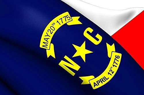 VINBOM North Carolina State Flag 3x5 ft. 100% US Made. Thick