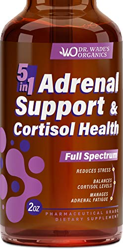 Adrenal Support & Cortisol Manager – Adrenal Fatigue Supplement with Ashwagandha, Ginseng & Vitamin B12, B6 – Natural Cortisol Health Support – Made in USA – MAX Absorption – Effective Stress Relief