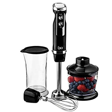 Epica Top Rated Extra Power Heavy Duty Immersion Hand Blender 4-in-1 with 3 Year Warranty