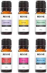 REVIVE Essential Oils Basics Kit - 100% Pure Therapeutic Grade, For Diffuser, Humidifier, Massage, Aromatherap