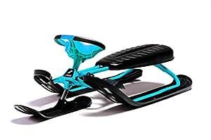 Stiga Royal - Trineo snow racer (patines con forma twin tip, volante de seguridad, enrollador de cue