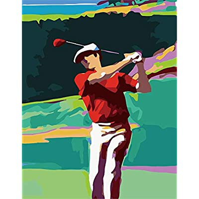 My First Paint Numbering Kit, 16''X20''Inches, Man Playing Golf