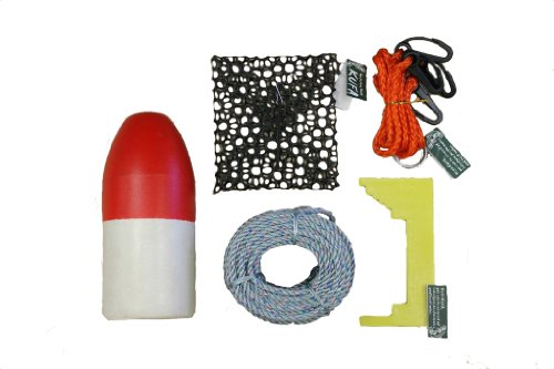 KUFA crabbing accessory kit - 100' Lead rope, Clipper, Harness, Bait cage & Float (CAC-1)