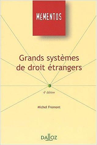 En ligne Grands systèmes de droit étrangers epub pdf