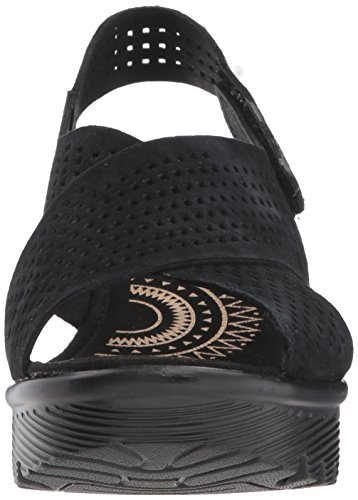 Skechers Women's Parallel Infrastructure Wedge Sandal Black buy cheap shopping online really for sale K6cYny