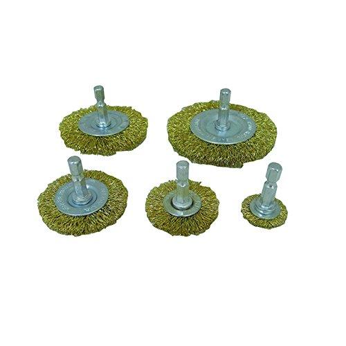 5pc Circular Brass Wire Wheel Brushes