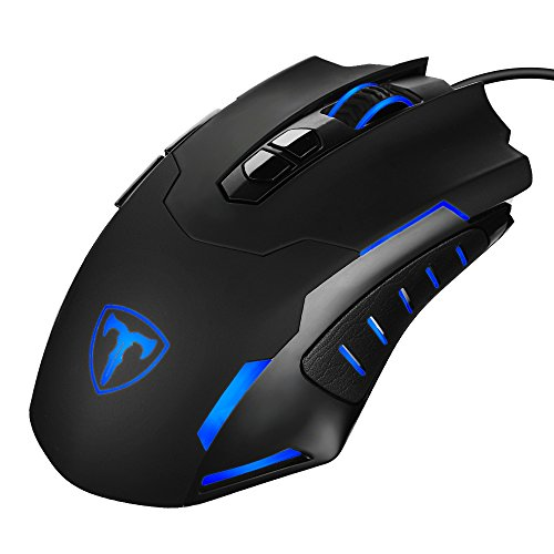 Gaming Maus, PrimAcc 7200DPI USB Wired Gaming-Maus LED Mouse Ergonomische Mäuse Programmierbar DPI (Standard 1200/2400/3500/5500/7200) mit 5 einstellbare DPI,7 Tasten, für Pro Gamer Spieler