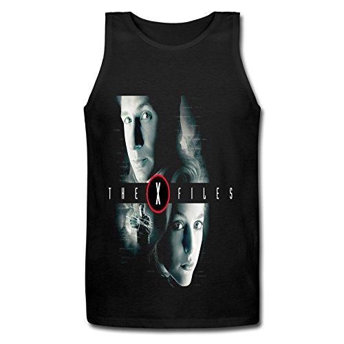 Youqian The X Files Mulder & Scully Men's T-Shirt XX-Large Black Tank Top