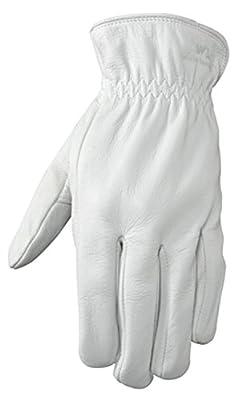 Wells Lamont Full Leather Work Gloves, Grain Goatskin, Medium (1720M)