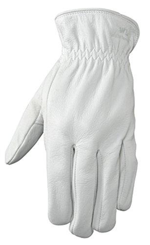 Grain Leather Gloves (Wells Lamont Full Leather Work Gloves, Grain Goatskin, Medium)