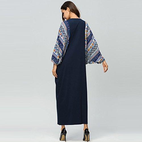 Musulmans Bleu Maxi Robe Caftan Longue Les Orient Arabe Dresses Muslims Femmes Robes fonc Abaya Dcontracte Cocktail Zhhlaixing Islamique Moyen Robes tqOPUwwA