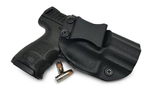 Concealment Express IWB KYDEX Gun Holster: fits Heckler & Koch (H&K) VP9SK - Custom Molded Fit - US Made - Inside Waistband - Adj. Cant/Retention (BLK, Right)
