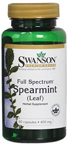 Swanson Premium Full Spectrum Spearmint Leaf 400mg -- 3 Bottles each of 60 Capsules