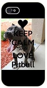 iPhone 5C Keep calm and love pitbull - black plastic case / Keep calm, dog, dogs