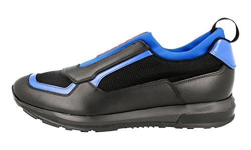 Prada Mens 4o3038 Läder Sneaker