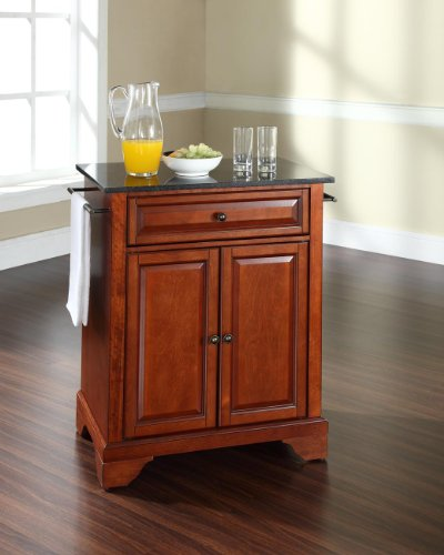 Top Mahogany Kitchen Island (Crosley Furniture LaFayette Cuisine Kitchen Island with Solid Black Granite Top - Classic Cherry)