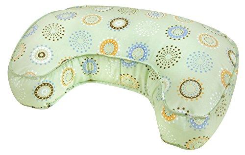 Leachco The Natural Original Contoured Nursing Pillow, Sage Sunny Circles