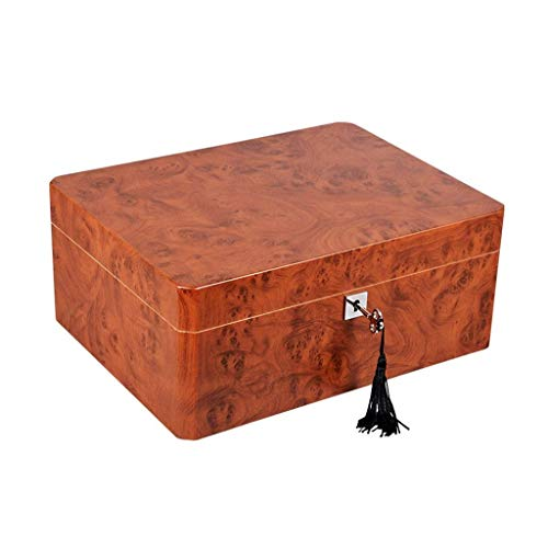 $232.69 antique humidor Cigar Humidor Desktop Cigar Humidor Cigar Box, Large Capacity Can Hold 50 Cigars, Humidifier and Hygrometer Cigar Cabinet Cigarette Box, Professional Storage Cigar Men's Gift Box Size: 300230127mm(1 2019