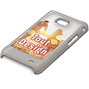Colección 15, Custom Samsung S2Hard Back Case Cover Skin Cartera Flip Shell, plástico, Custom FR-006, PC White
